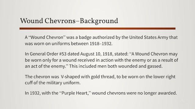 War Casualties/Wound Chevrons