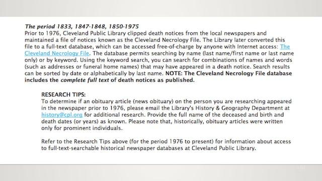 Insider Genealogy Resources