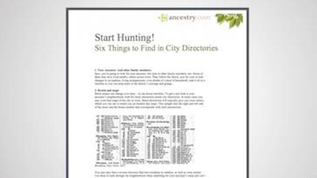 City Directories