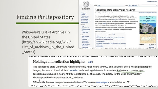 Finding the Repository