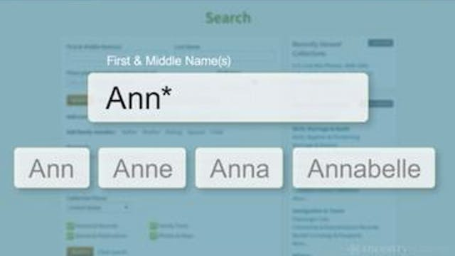 Search Tips to Find Names - Part 2