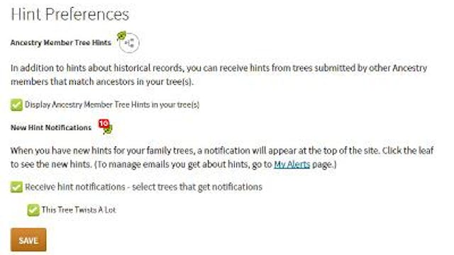 Setting Email Preferences for Hints a...