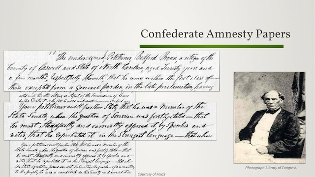 Confederate Amnesty Papers: An Overview