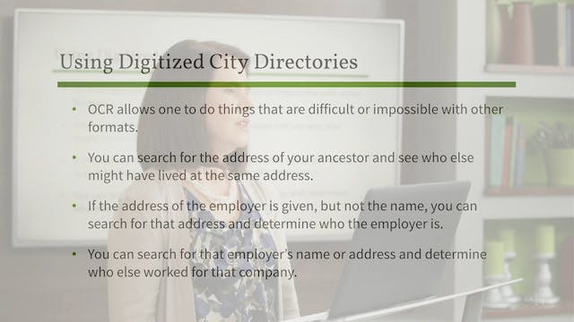 Using Digitized City Directories