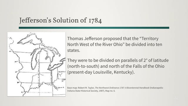 Jefferson's Solution of 1784