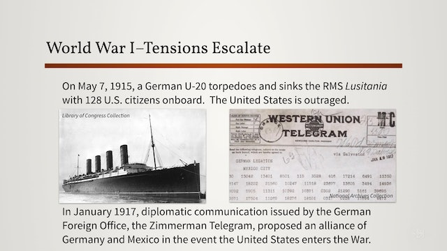 Introduction to World War I ? Timeline to War