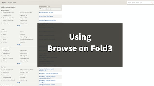 Updates to Fold3 Browse