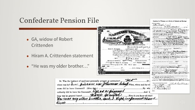 What is in a Pension Application File?