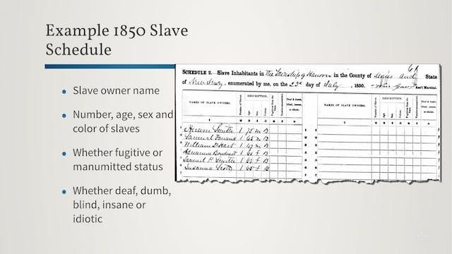Slave Schedules