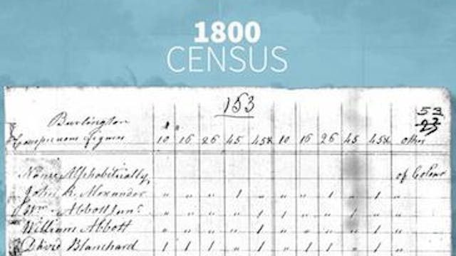 1800 and 1810 Censuses
