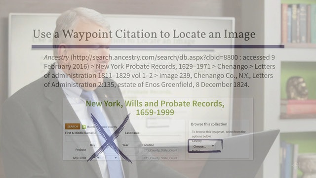 Locate an Image Using a Waypoint