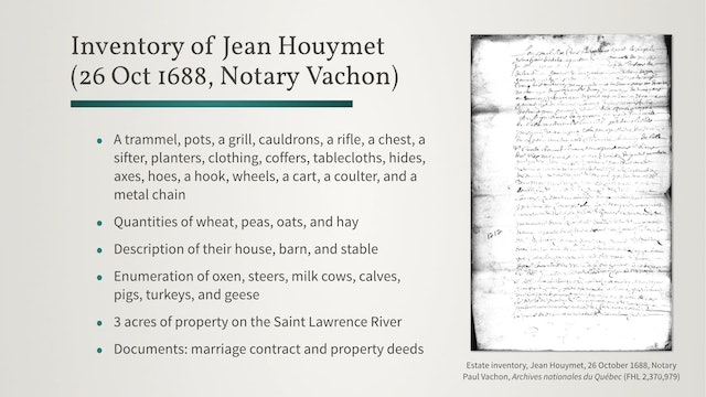Notarial Records: Personal Details of Individuals and Families