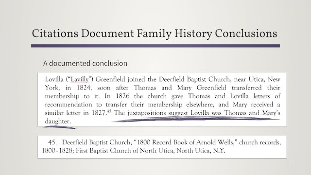 Using Citations to Make Family Histories Useful