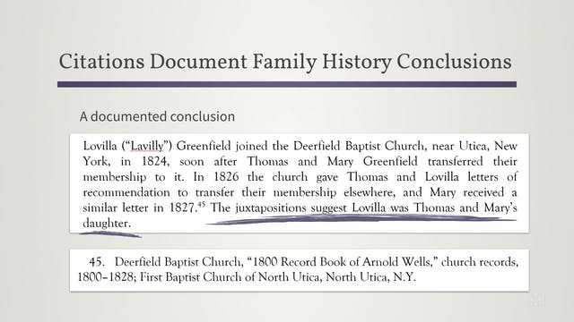 Using Citations to Make Family Histor...