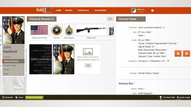 Honoring Servicemen in Casualty Records