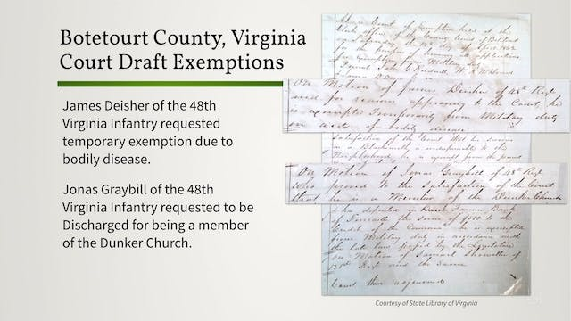 Confederate Draft Records