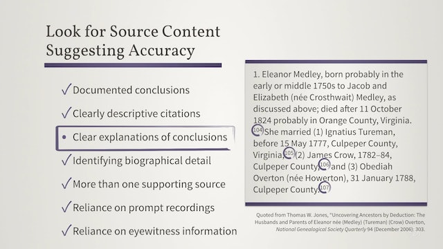 Accuracy and Error in Records, Narratives, and Other Sources