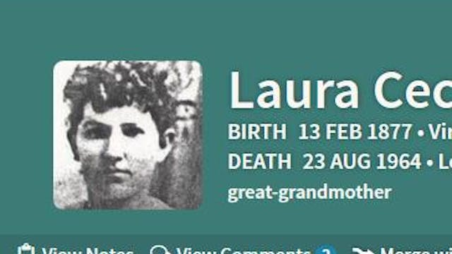 Updating Basic Facts About An Ancestor