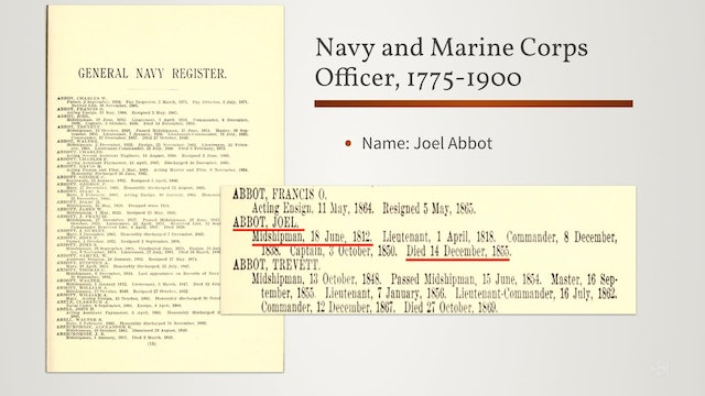 Naval and Marine Service During the War of 1812
