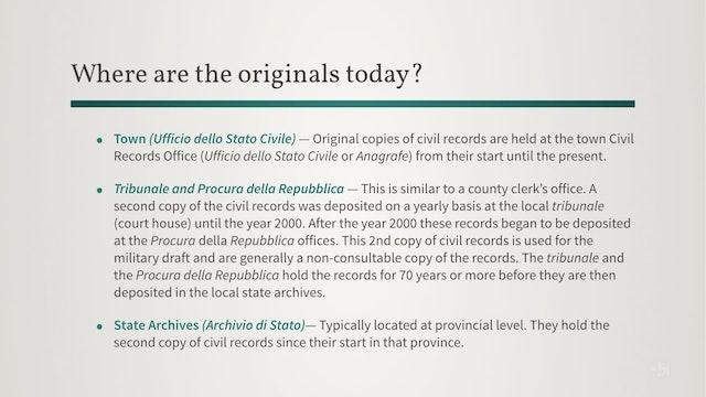 Introduction to Italian Civil Registration