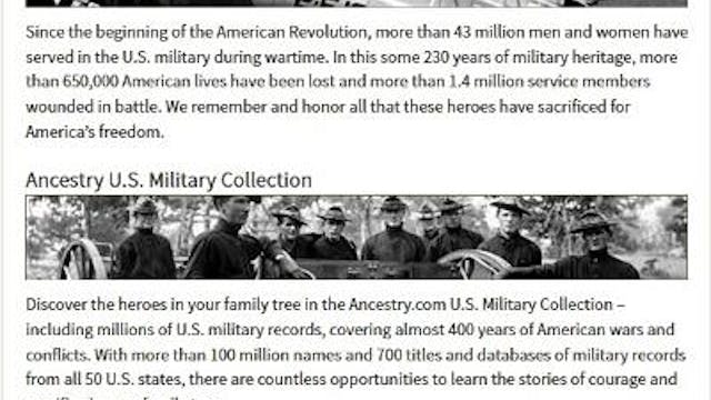 Looking for Military Records on Ances...