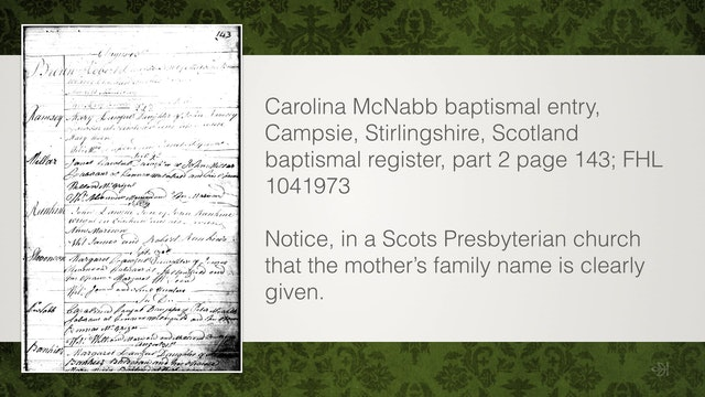 Baptismal Records: General Protestant