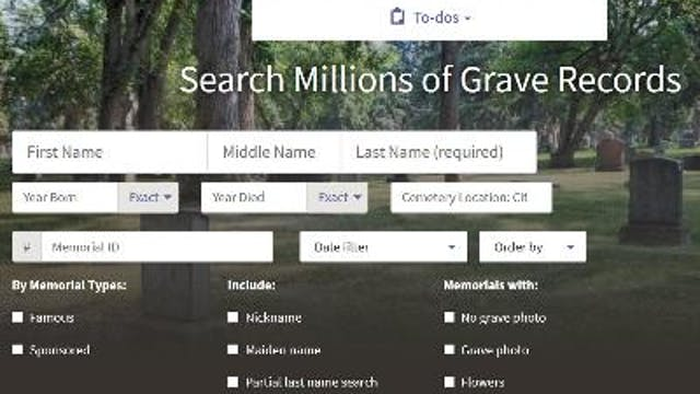 Registering for a Find A Grave Account