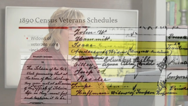 1890 U.S. Census Veterans Schedule