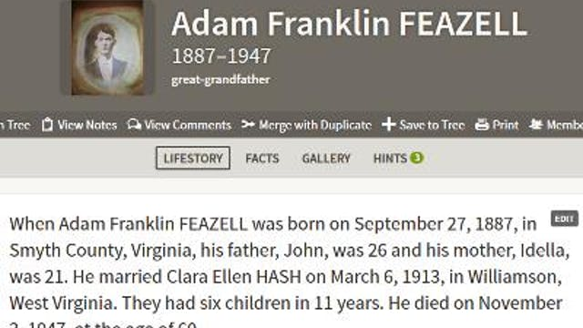 How Can I Edit My Ancestor's LifeStory?