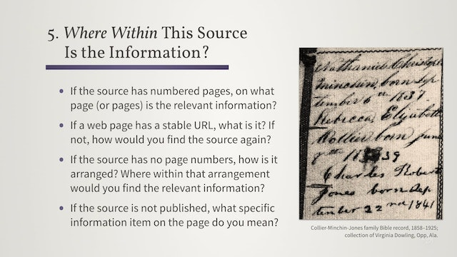Understand Your Sources by Answering Five Questions