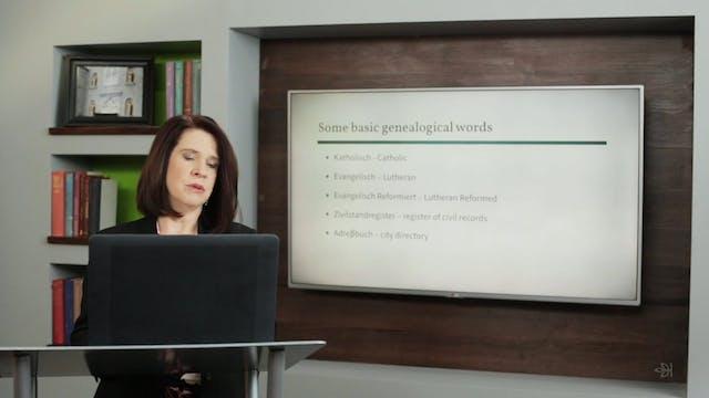 Basic German Vocabulary and Handwriting