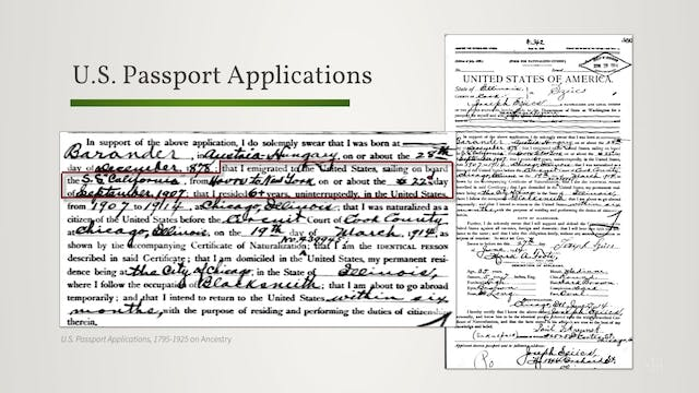 Immigration/Emigration Collections