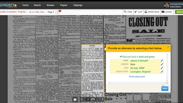 Finding Obituaries in Newspapers.com Beta