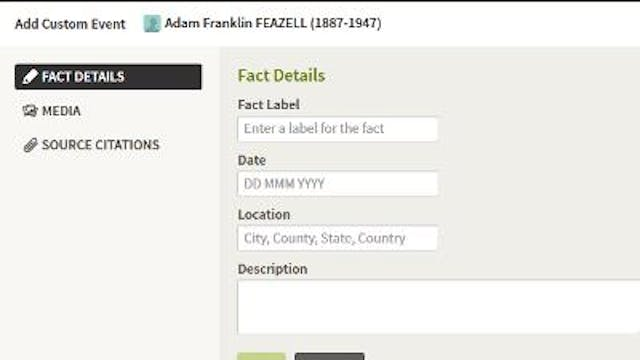 Adding A New Fact To Your Ancestor's ...