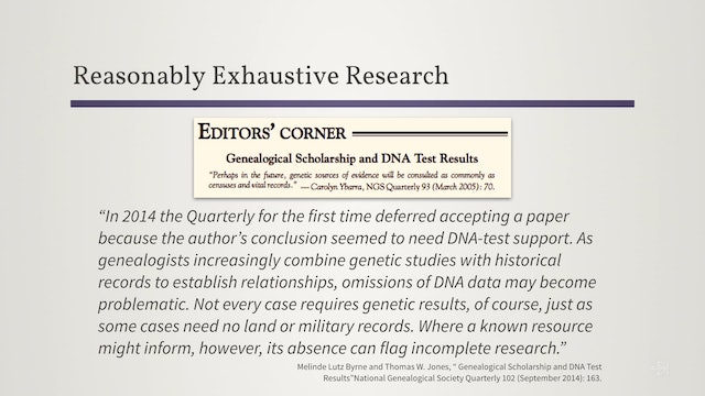 Conduct Reasonably Exhaustive Research