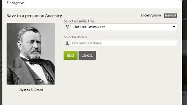 Saving a Find A Grave Page To Ancestry