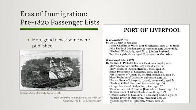 Eras of Passenger Lists