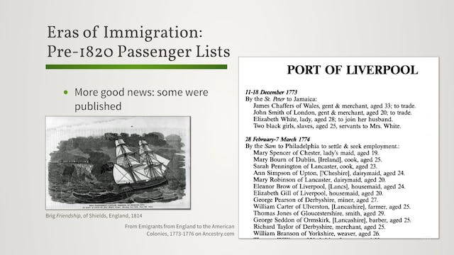 Eras of Passenger Lists