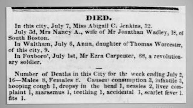 Obituaries: A Case Study