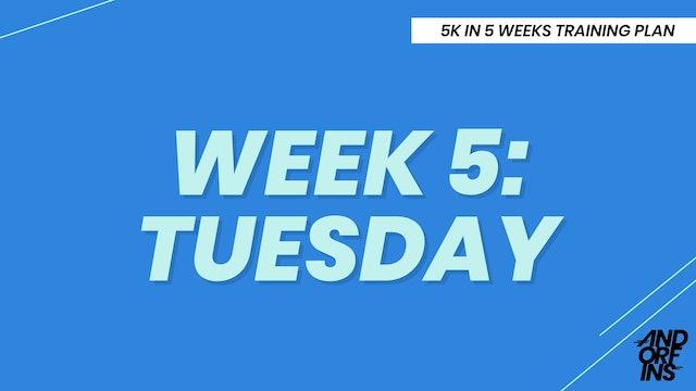 WEEK 5: TUESDAY