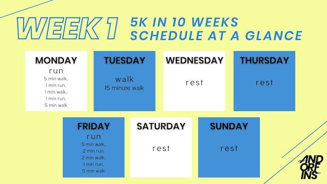 5k in 10 weeks: WEEK 1