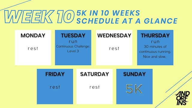 5k in 10 Weeks: WEEK 10