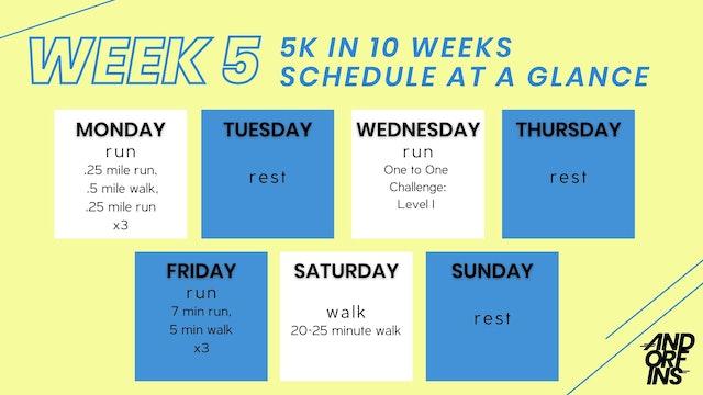 5k in 10 Weeks: WEEK 5