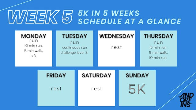 5k in 5 weeks: WEEK 5