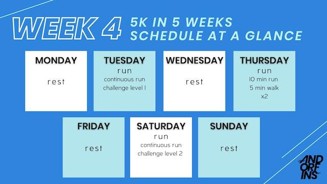 5k in 5 Weeks: WEEK 4