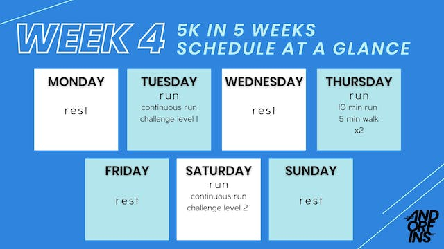 5k in 5 Weeks: WEEK 4