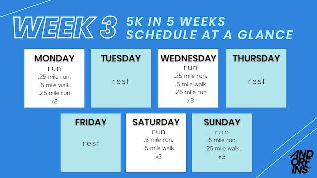 5k in 5 weeks: WEEK 3