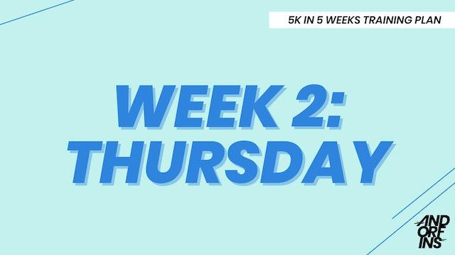 WEEK 2: THURSDAY