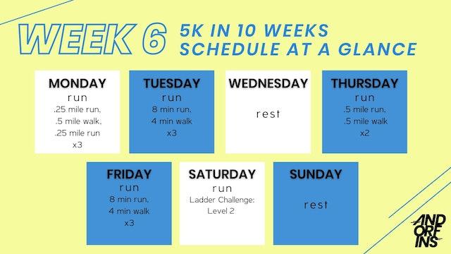 5k in 10 Weeks: WEEK 6