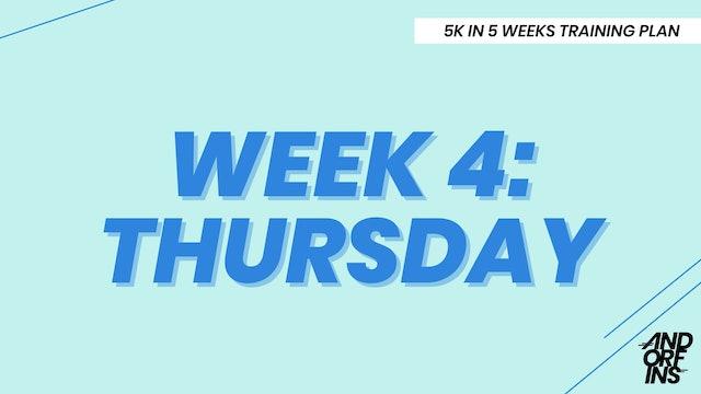 WEEK 4: THURSDAY